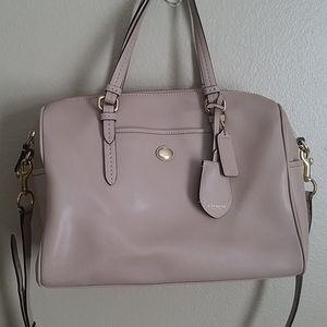 Coach Taupe Leather Arm Bag